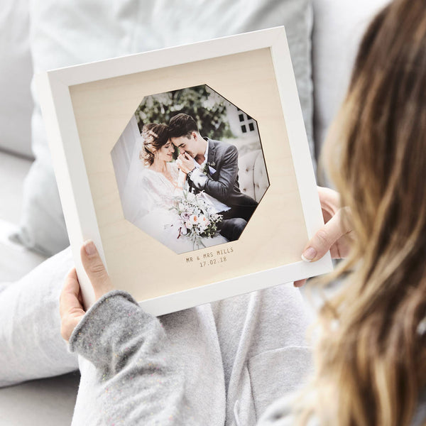Wooden Personalised Wedding Photo Frame
