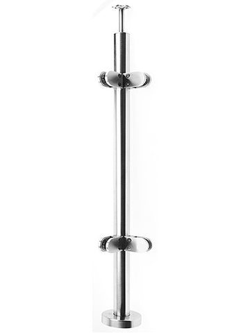 Stainless Steel Balustrade- Deluxe- Corner Post - SimpleHandrails.co.uk