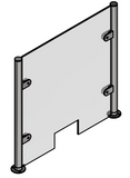 10mm Perspex Panel Access Slot - SimpleHandrails.co.uk