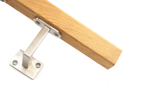 Stainless Steel & Oak Square Handrail