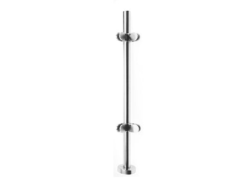 Stainless Steel Balustrade- Simple- Corner Post - SimpleHandrails.co.uk