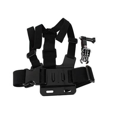 Action Camera Chest Harness + 3 Way Pivot Arm