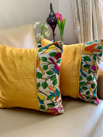 Kantha: Chirps Yellow