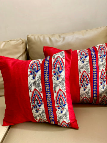 Madhubani: Red Peacock
