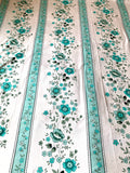 Teal Floral Queensized