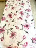 Single Bedsheet: Floral Pink