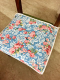 Chair Covers: Blue Roses chair cover (set of 6)