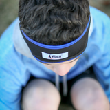 Blue Active Headband Headphones: Lycra Mesh Keeps Your Head Cool