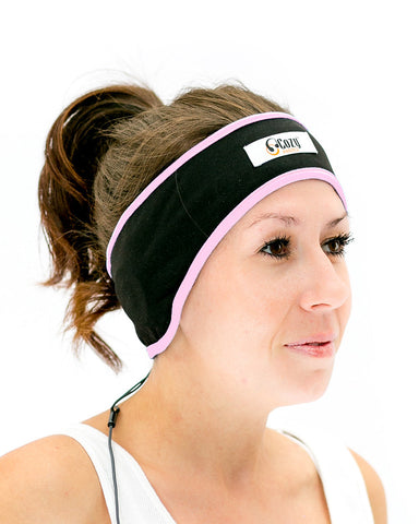 Pink Active Headband Headphones: Lycra Mesh Keeps Your Head Cool
