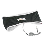 White Active Headband Headphones: Lycra Mesh Keeps Your Head Cool