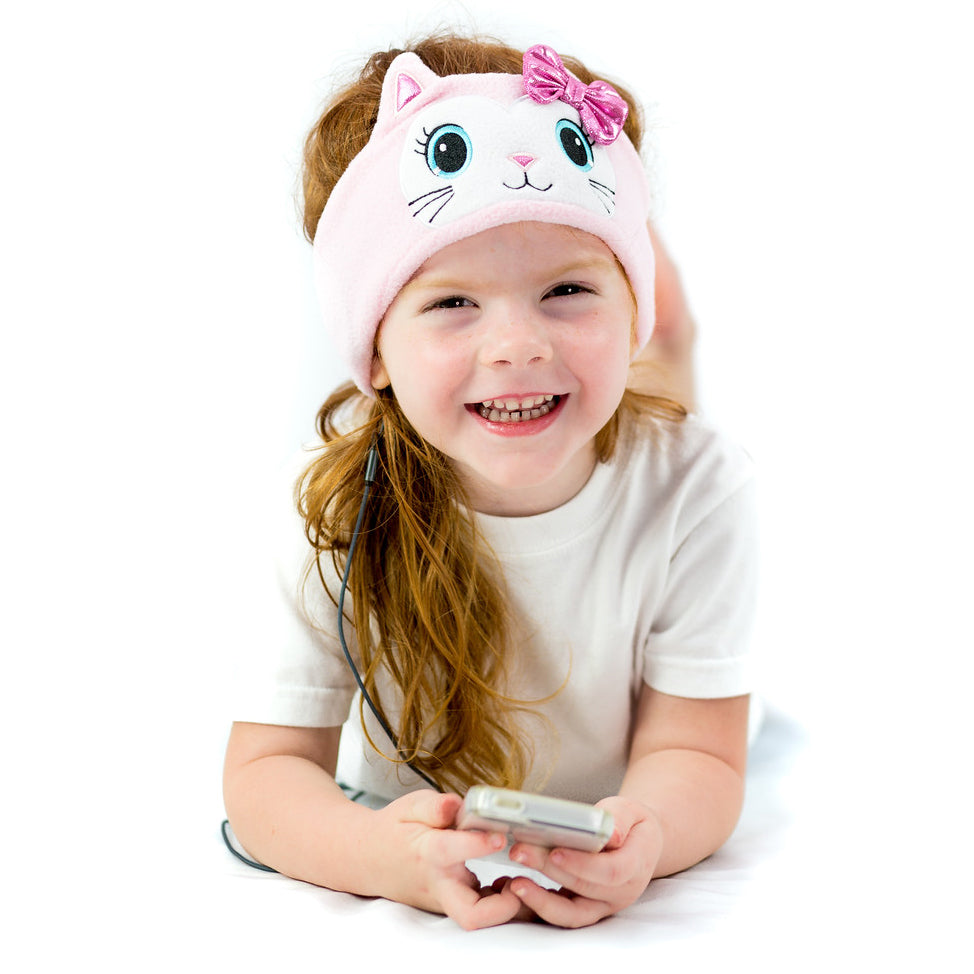 Kids Pink Kitty CozyPhones