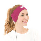 CozyPhones Sleep Headphones & Travel Bag - Pink with Orange Liner
