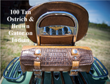100 Tool Bag Gator and Ostrich on Indian Motorcycle