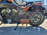 101 Tool Bag in Indian Vintage Leather as Solo Bag on Indian Scout