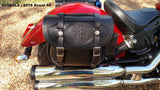 103 Saddlebags with Hand Carving on Indian Scout Sixty