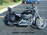 103ZLS saddlebags on 2009 Harley Sportster 1200C
