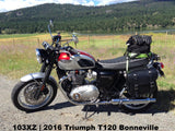Throw Over 103X saddlebags on Triumph Bonneville T120