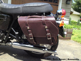 105 Slim Retro Slight Angle Leather Saddlebags