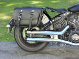 105 Leather Saddlebags on Indian Scout