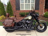 Mustang Distress Brown Tool Bag on Harley Davidson Softail Slim