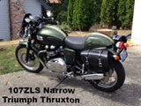Leather Saddlebags for Triumph Thruxton Motorcycle