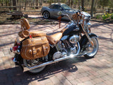 Brown Windshield Bag on 2009 Softail Heritage