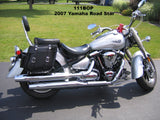 111P Slight Angle Deluxe Leather Saddlebags