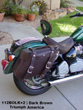112+2 Longer Deluxe Wide Angle Saddlebags