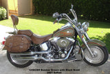 Brown Leather Saddlebags for Harley Davidson motorcycles