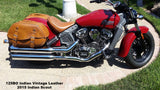 Brown Leather Saddlebags for Indian Scout motorcycle