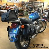 Leather Saddlebags for Triumph Thunderbird