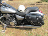 Leather Saddlebags for Triumph Thunderbird Storm Motorcycle
