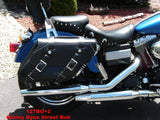 Leather Saddlebags for Harley Davidson Dyna Motorcycles