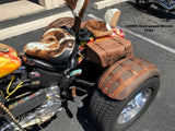 Brown Leather Saddlebags for Motorcycle Trikes