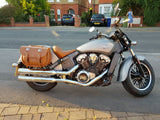 303+2 Longer Pony Express Leather Saddlebags
