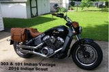 Brown Leather Saddlebags and Tool bags for Indian Motorcycles