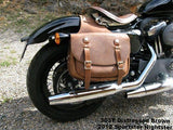 Brown Leather Saddlebags for Harley Davidson Sportster Nightster