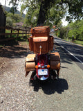 Brown Extra Large Sissy Bar Bag for Motorcycles