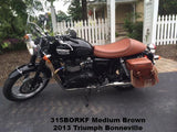Brown saddlebags for Triumph Bonneville