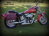 Brown Saddlebags for Indian Scout