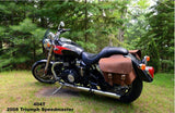 Brown Leather Saddlebags for Triumph Speedmaster Motorycyle