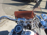 Brown Windshield Bag on 2012 Softail Heritage