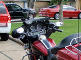 3 Pocket Windshield Bags on Electra Glide
