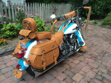 Brown Windshield bag on 1995 Softail Heritage