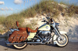 Distressed Brown Road King Saddlebags and matching Seat on 2010 Road King