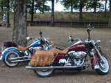 Ostrich Road King Saddlebags on 2006 Road King