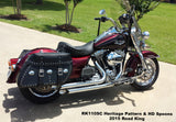 Custom Leather Saddlebags for Harley Road Kings