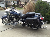 Road King Saddlebags with Chrome studs , conchos, key locks on 2013 Road King