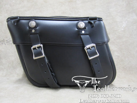 108 Deluxe Slight Angle Leather Saddlebags