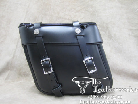 111 Deluxe Slight Angle Leather Saddlebags